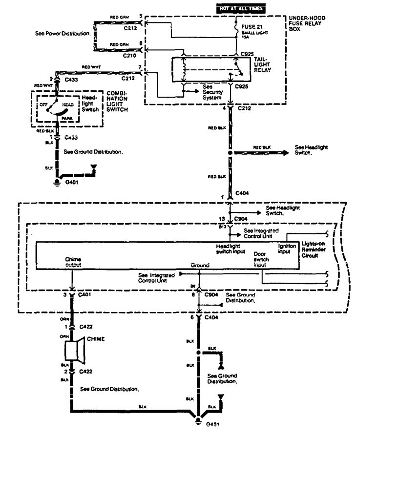 Acura Vigor (1994) - wiring diagrams - lamp out warning - Carknowledge.infoCarknowledge.info