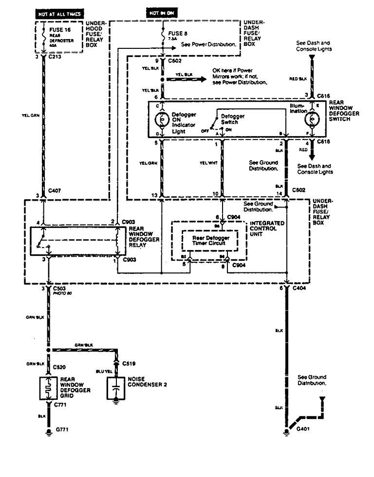 acura vigor 1994 wiring diagrams rear window. Black Bedroom Furniture Sets. Home Design Ideas