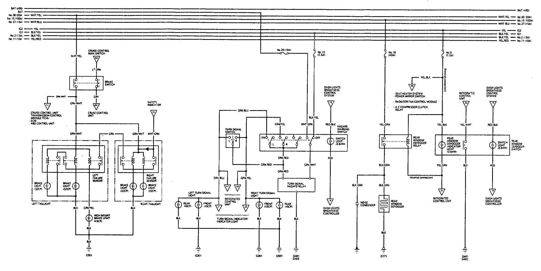 acura vigor  1993  - wiring diagrams