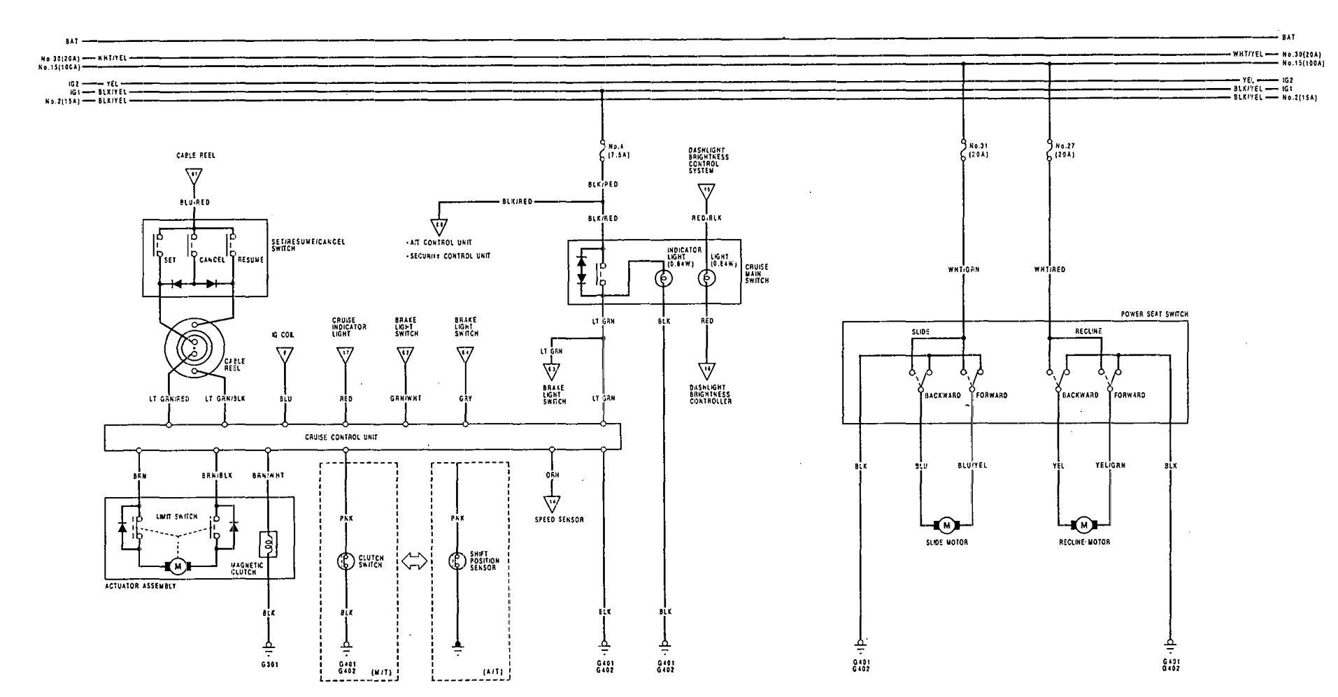 Acura Vigor Wiring Diagram : Acura vigor wiring diagrams speed controls