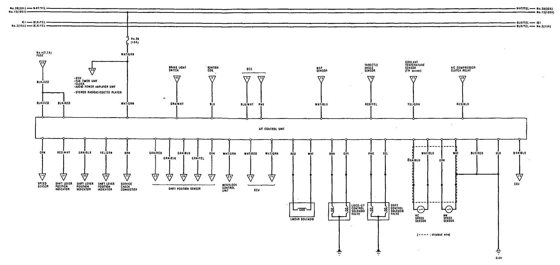 Acura Vigor 1992 Wiring Diagrams Transmission Controls Fuse Box Diagram