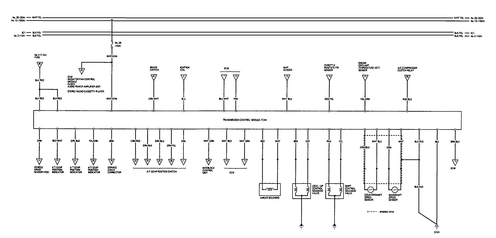 Acura Vigor 1993 Wiring Diagrams Transmission