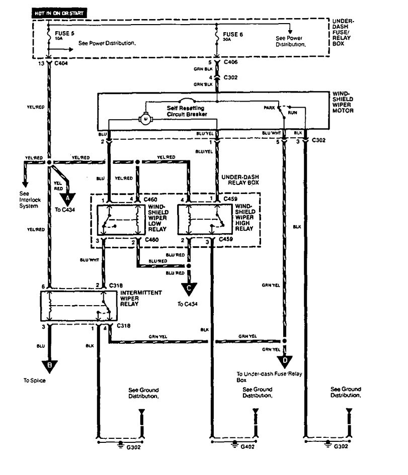 Acura Vigor  1994  - Wiring Diagrams  Washer