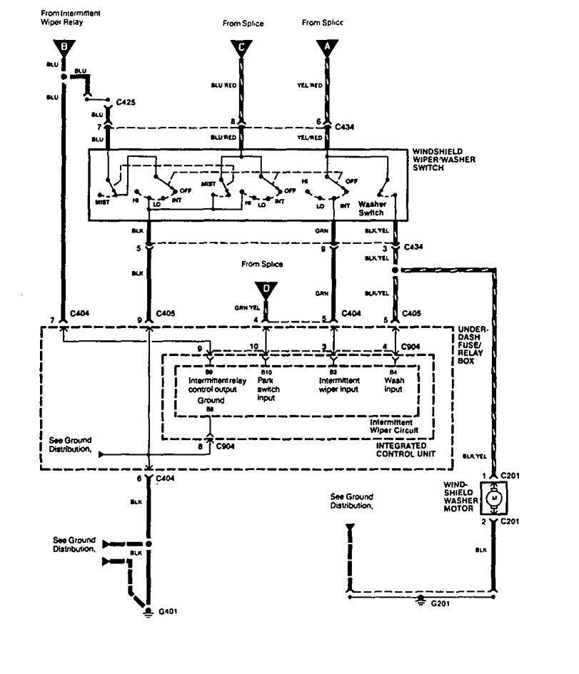Acura Vigor Wiring Diagram : Acura vigor wiring diagrams wiper washer