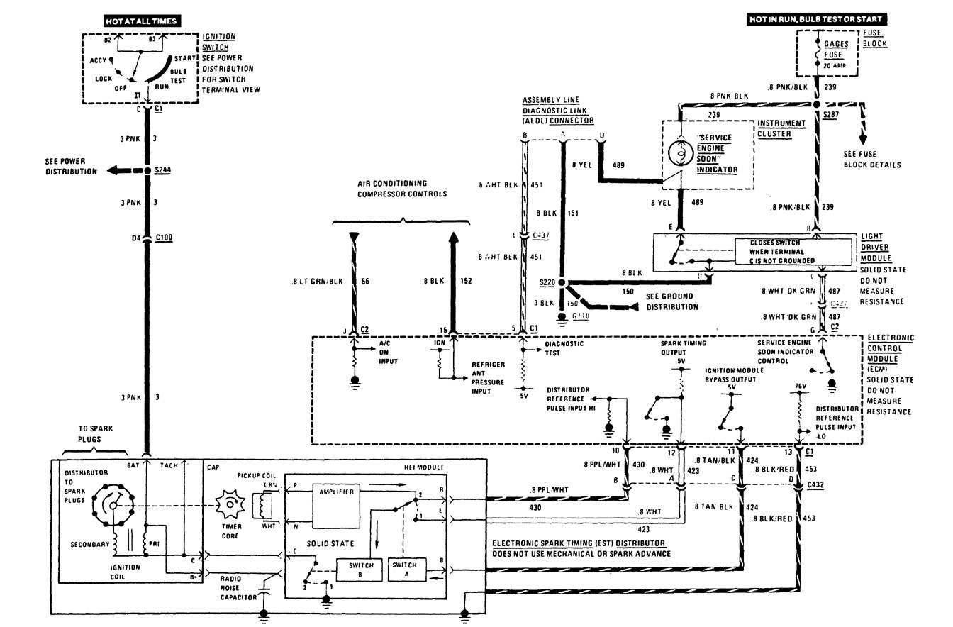Buick Century 1989 Wiring Diagrams Computer Data