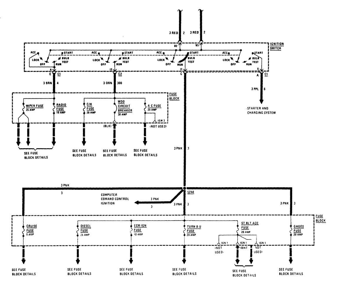 buick century wiring diagram power distribution