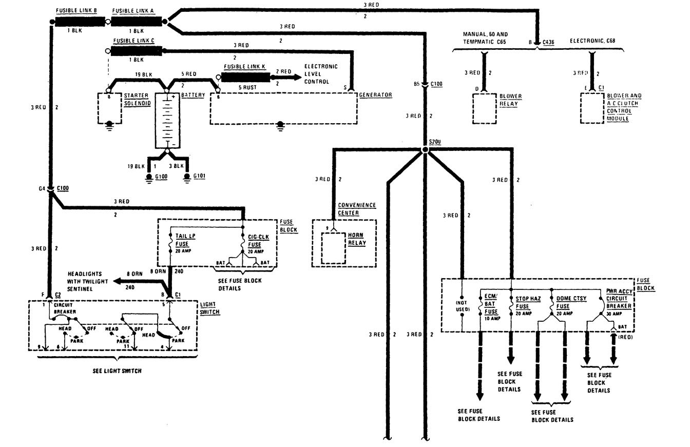 buick century  1988  - wiring diagrams