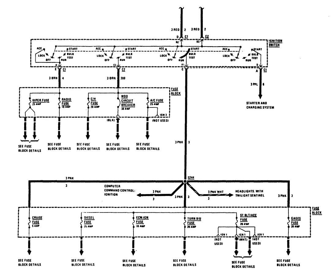 ... Buick Century – fuse box – power distribution (part 2)