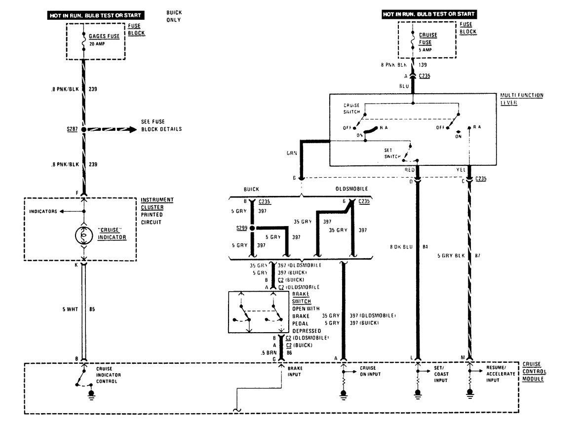 [SCHEMATICS_43NM]  Buick Century (1989) - wiring diagrams - speed control - Carknowledge.info | Buick Cruise Control Diagram |  | Carknowledge.info