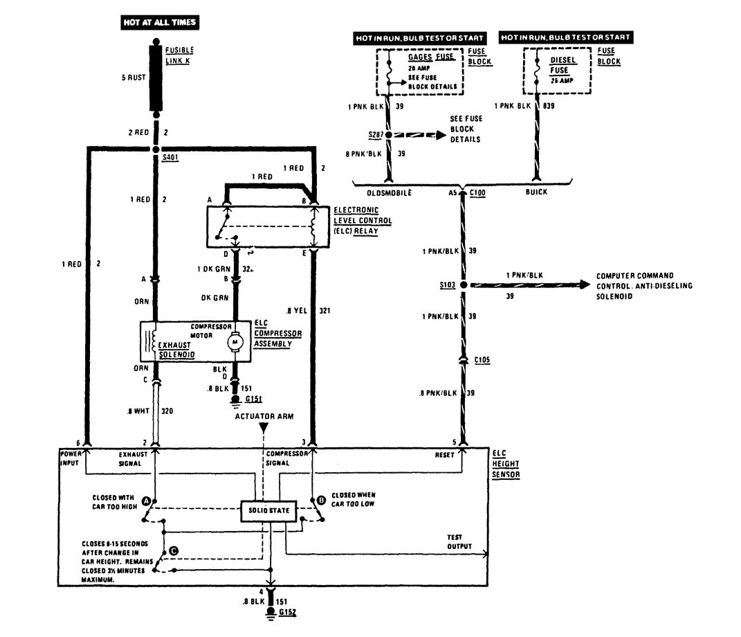 buick century (1989) - wiring diagrams - suspension ... 2005 buick century fuse box diagram