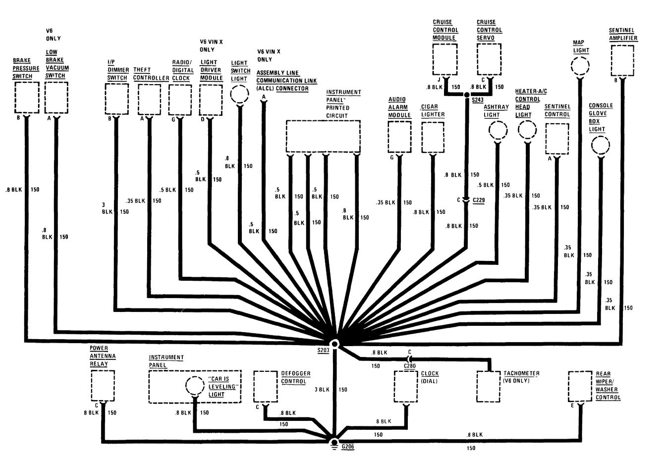 Buick Century 1986 Wiring Diagrams Ground Distribution Lesabre Schematic Diagram