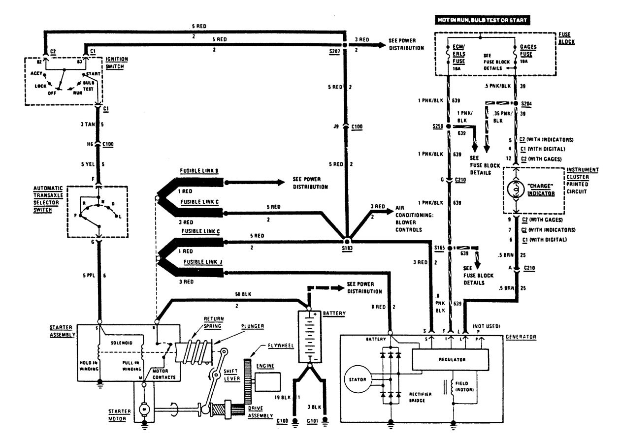 Buick Century  1987  - Wiring Diagrams - Charging System