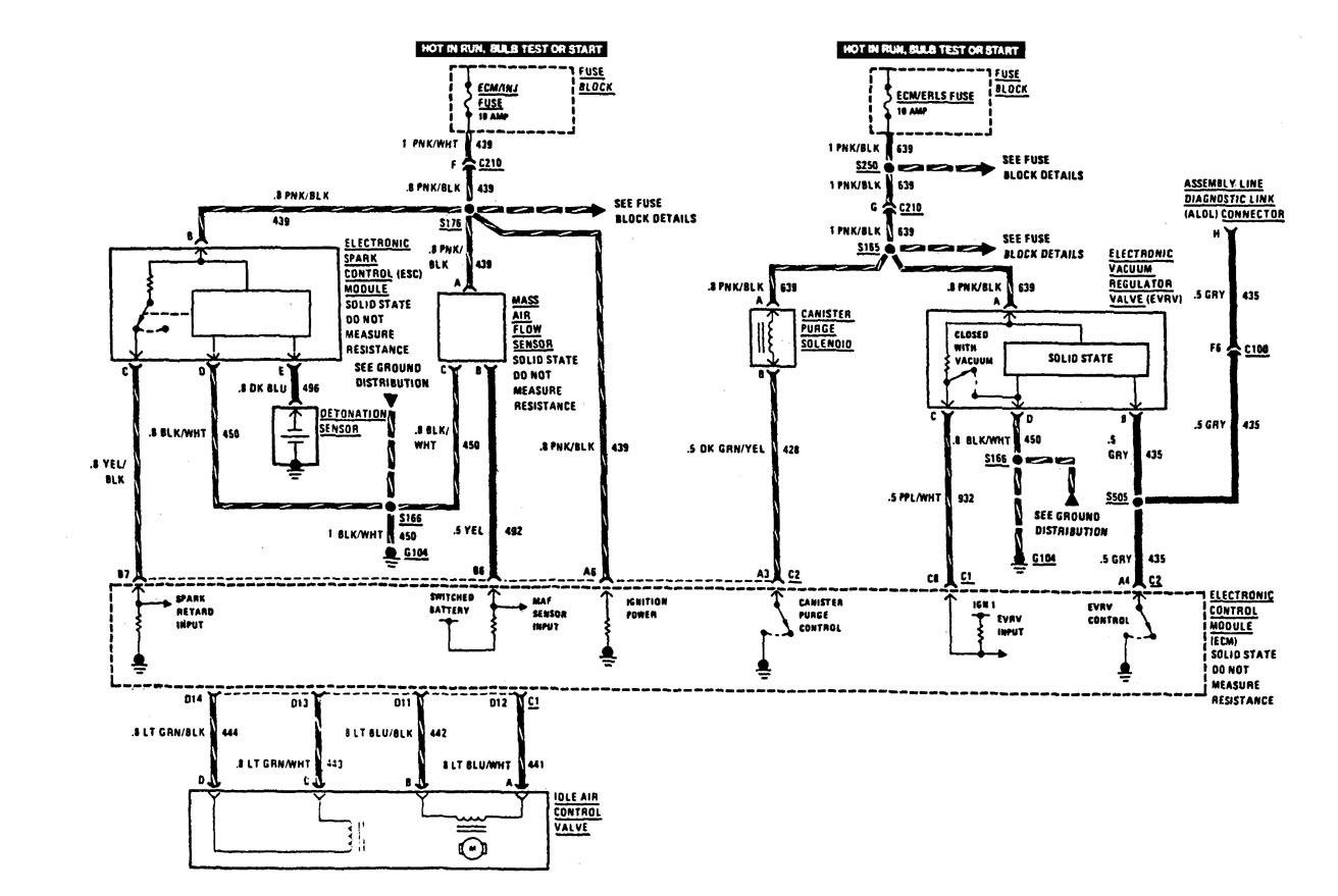 Buick Century (1987) - wiring diagrams - fuel controls ...
