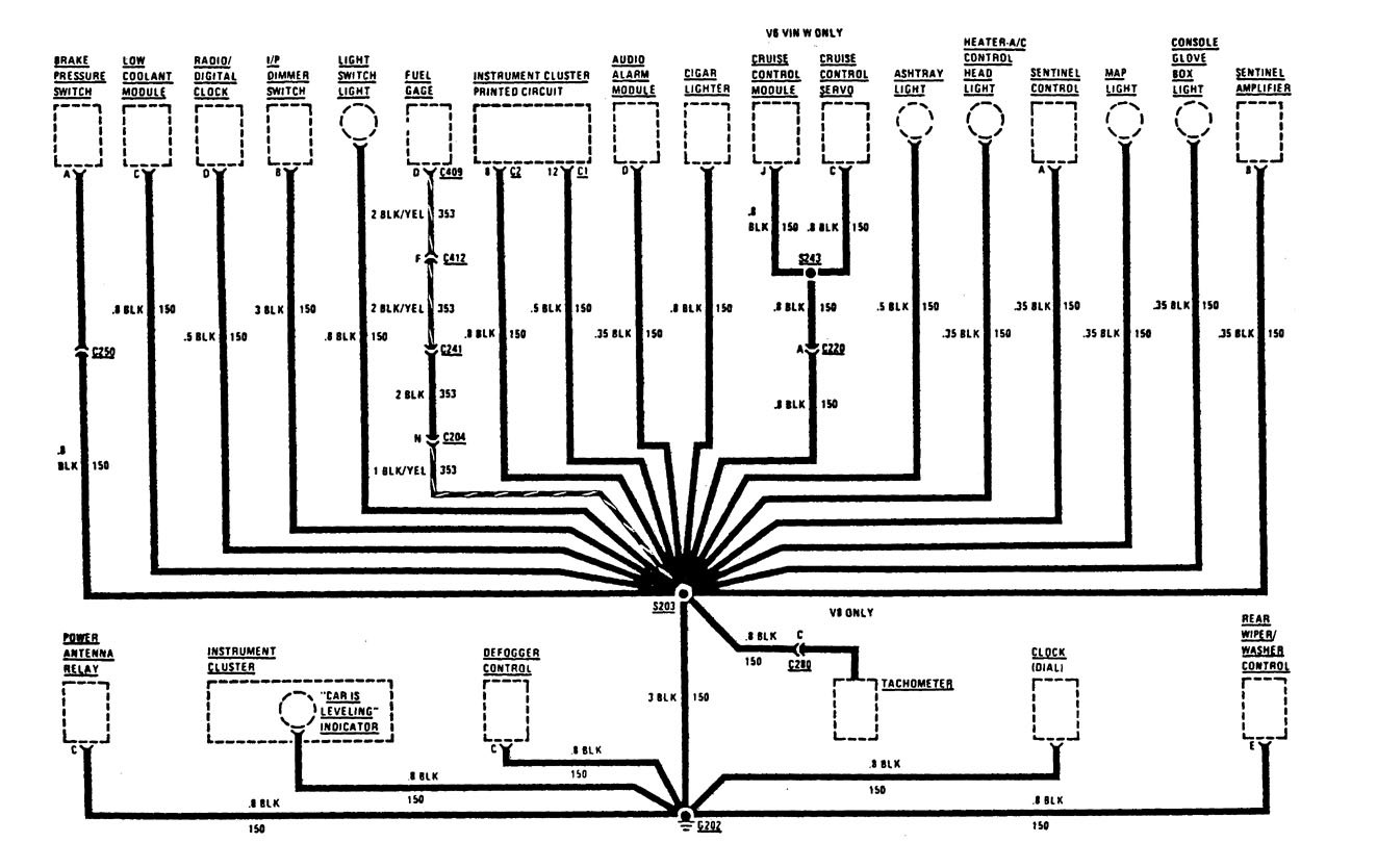 Buick Century 1987 Wiring Diagrams Ground Distribution Lesabre Schematic Part 1