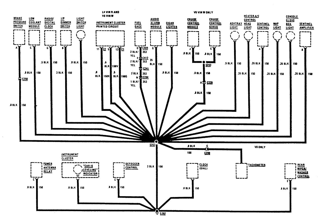 Buick Century 1987 Wiring Diagrams Ground Distribution Lesabre Schematic Part 2
