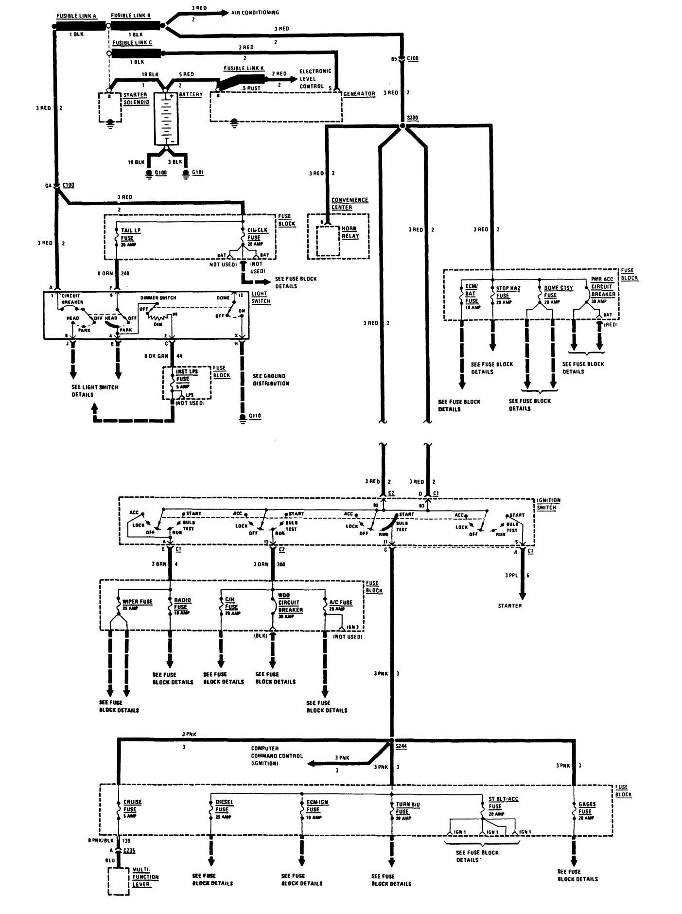 Buick Century (1988) - wiring diagrams - power ...