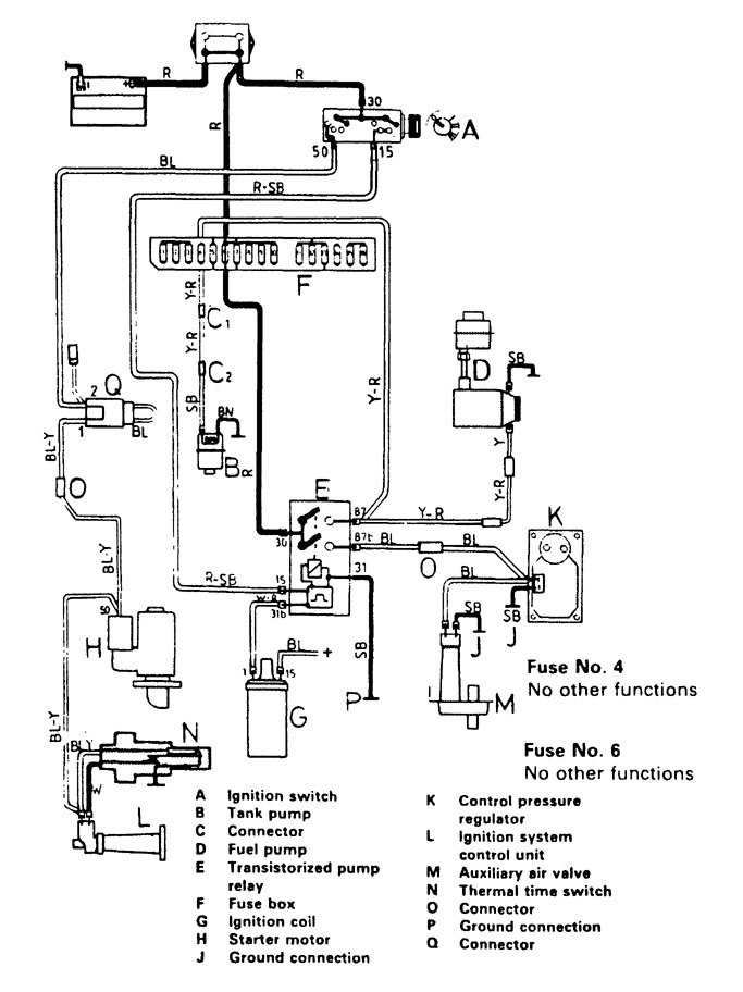 Volvo 244  1989      wiring       diagrams     fuel controls