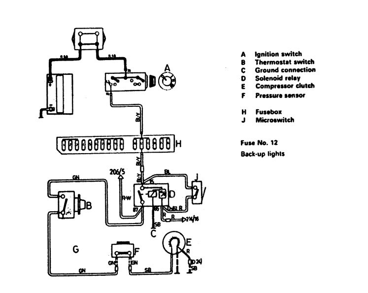 volvo 244  1988  - wiring diagrams - hvac controls