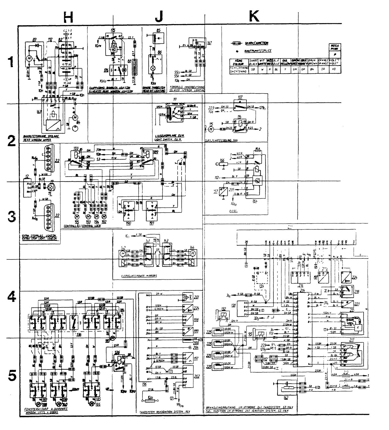 Volvo 245  1989  - Wiring Diagrams - Audio