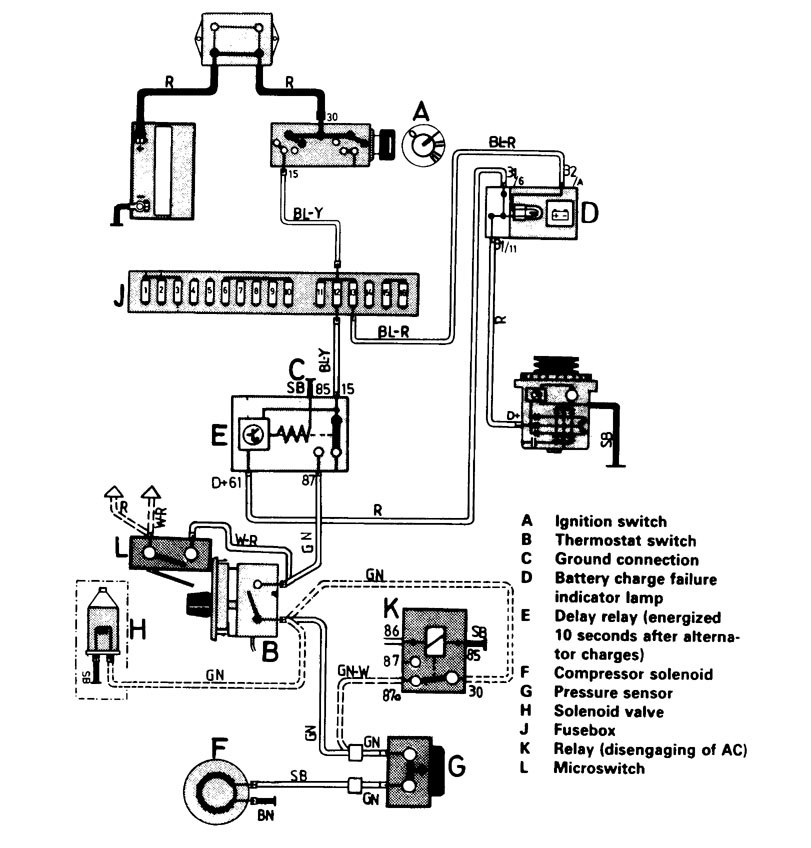 volvo 245  1986 - 1987  - wiring diagrams - hvac controls