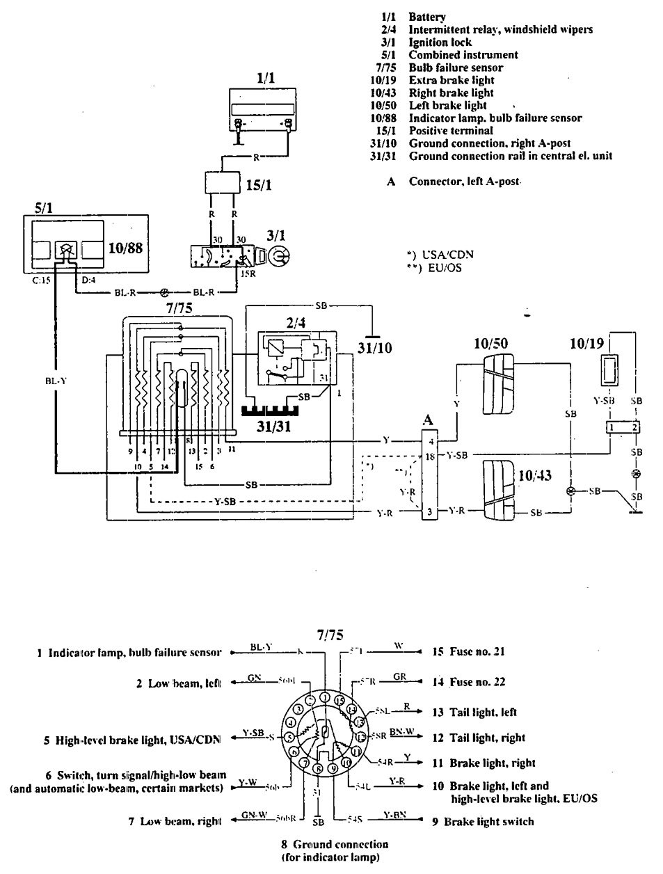 Volvo 740 1992 wiring diagrams audible warning system volvo 740 wiring diagram audible warning system swarovskicordoba Gallery