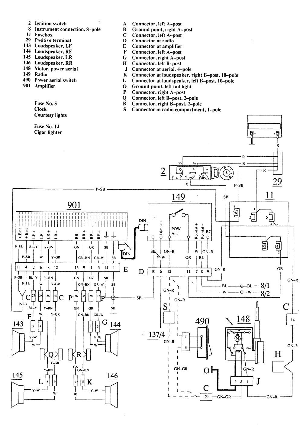Wiring Diagram For 1990 Volvo 740 : Volvo wiring diagrams audio
