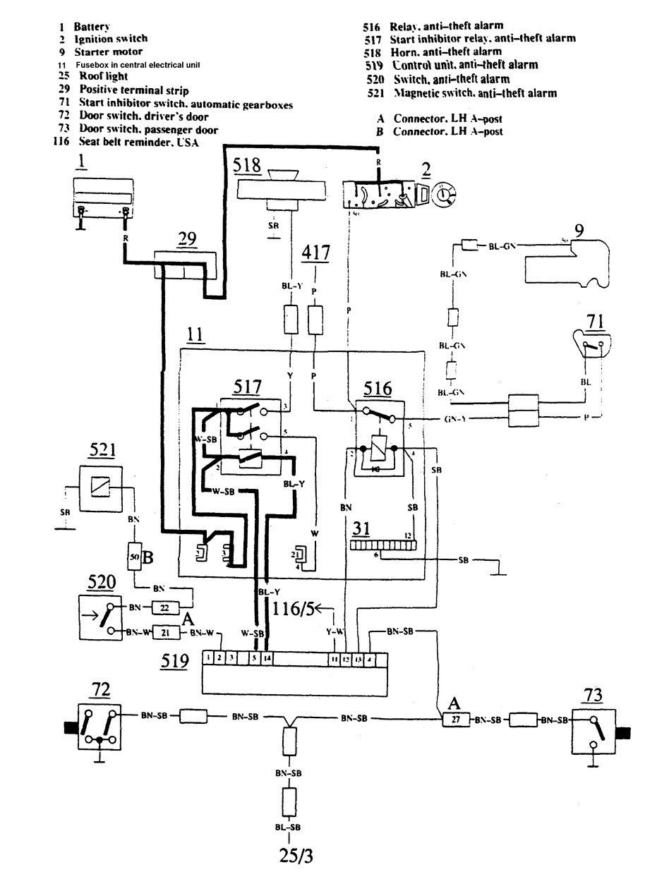 volvo 740  1988  - wiring diagrams