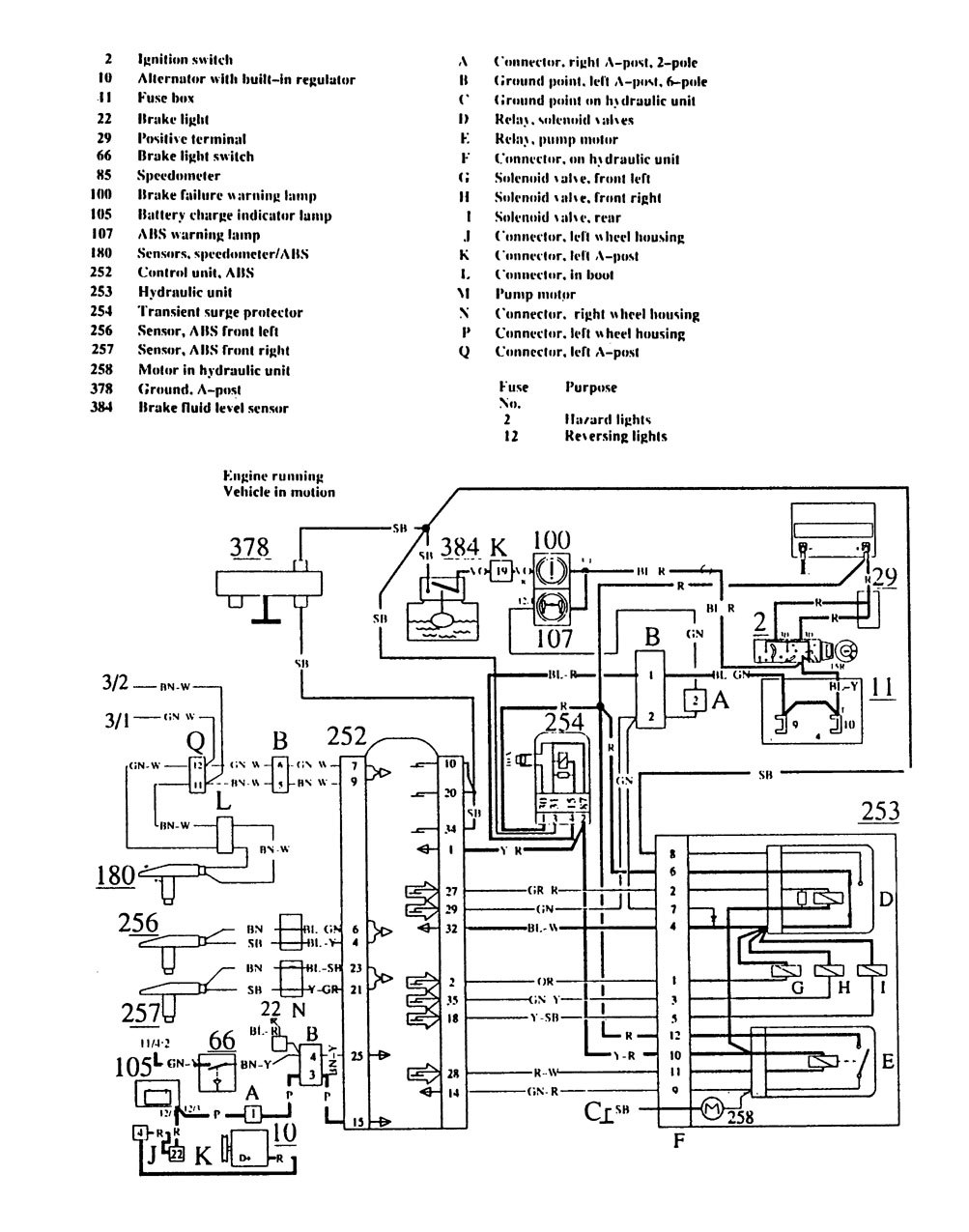 Volvo       740     1989  1990      wiring       diagrams     brake controls  CARKNOWLEDGE