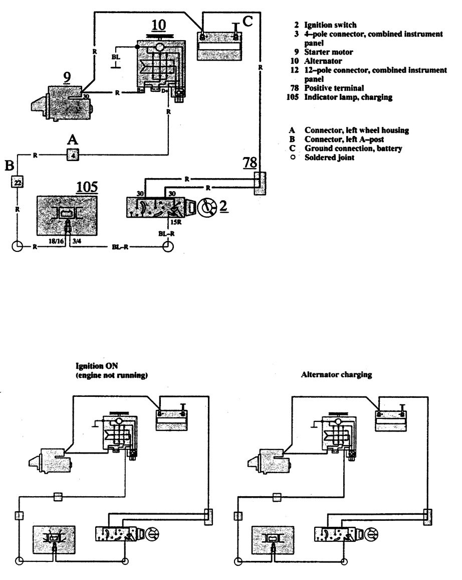 Volvo 240 Wiring Diagram Charging System Wire Data Schema 740 Diagrams 1991 Carknowledge Rh Info 1998