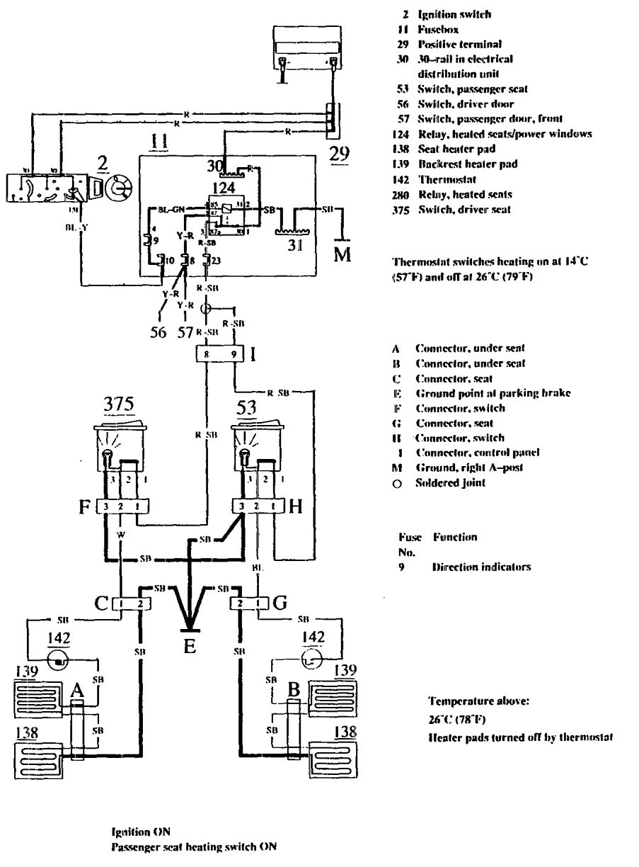Volvo 740 Wiring Diagram Starter Diagrams Truck Engine 1990 1991 Heated Seats D13 Schematic 240