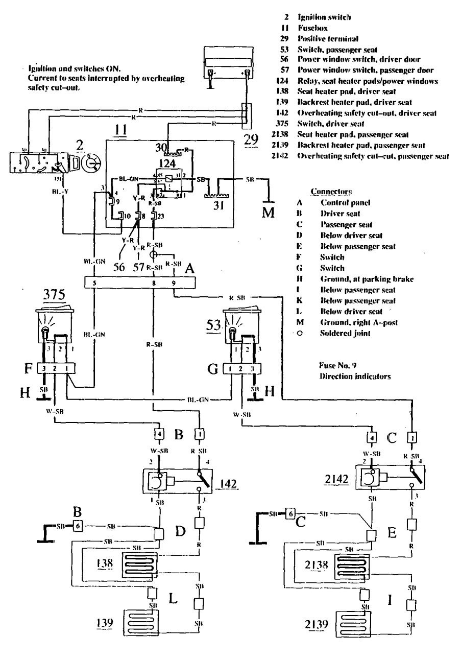 Wiring Diagram For 1990 Volvo 740 : Volvo wiring diagrams heated seats