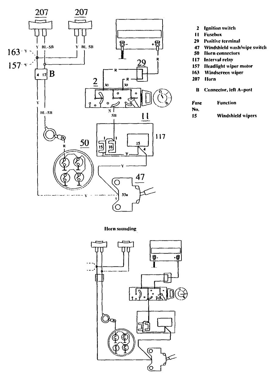 Volvo 740 1990 1991 Wiring Diagrams Horn Carknowledge Info