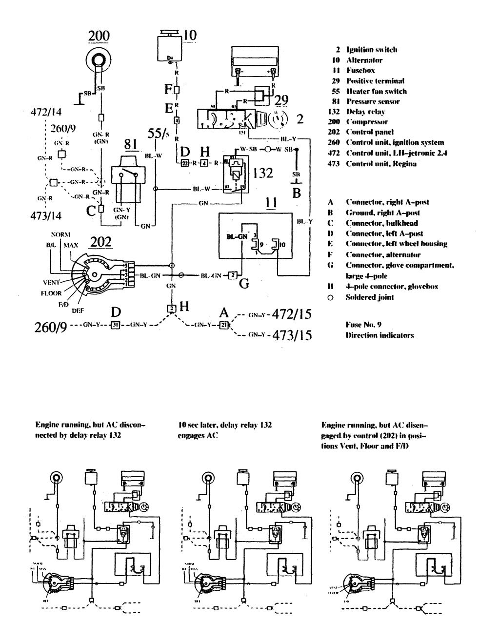 Volvo 740 1990 Wiring Diagrams Hvac Controls on Fuse Box Diagram For 1991 Mercedes Benz 420sel