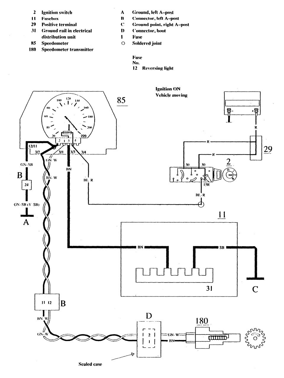 Volvo 740  1990  - Wiring Diagrams - Instrumentation