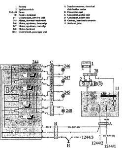 volvo 740 1991 wiring diagrams power seats. Black Bedroom Furniture Sets. Home Design Ideas