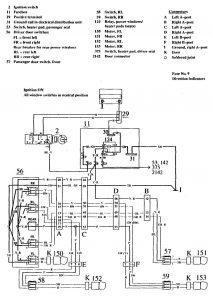 Volvo 740 (1990 - 1991) - wiring diagrams - power windows -  Carknowledge.info | Volvo V70 Window Wiring Diagram |  | Carknowledge.info