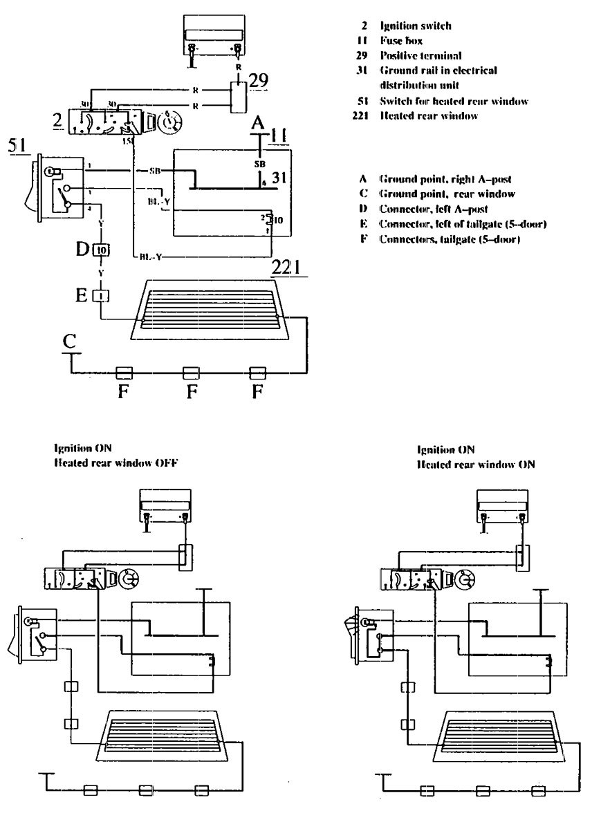 Wiring Diagram For 1990 Volvo 740 : Volvo  wiring diagrams rear window defogger