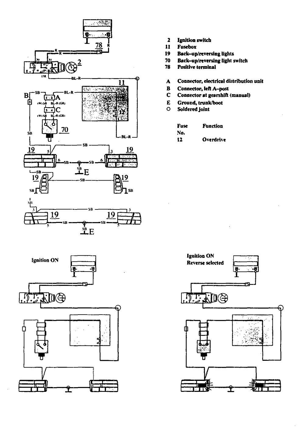 Wiring Diagram For 1991 Volvo 740 : Volvo  wiring diagrams reverse lamp