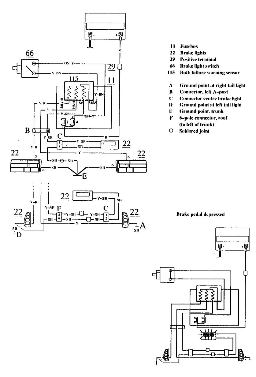 Wiring Diagram For 1990 Volvo 740 : Volvo  wiring diagrams stop lamp carknowledge