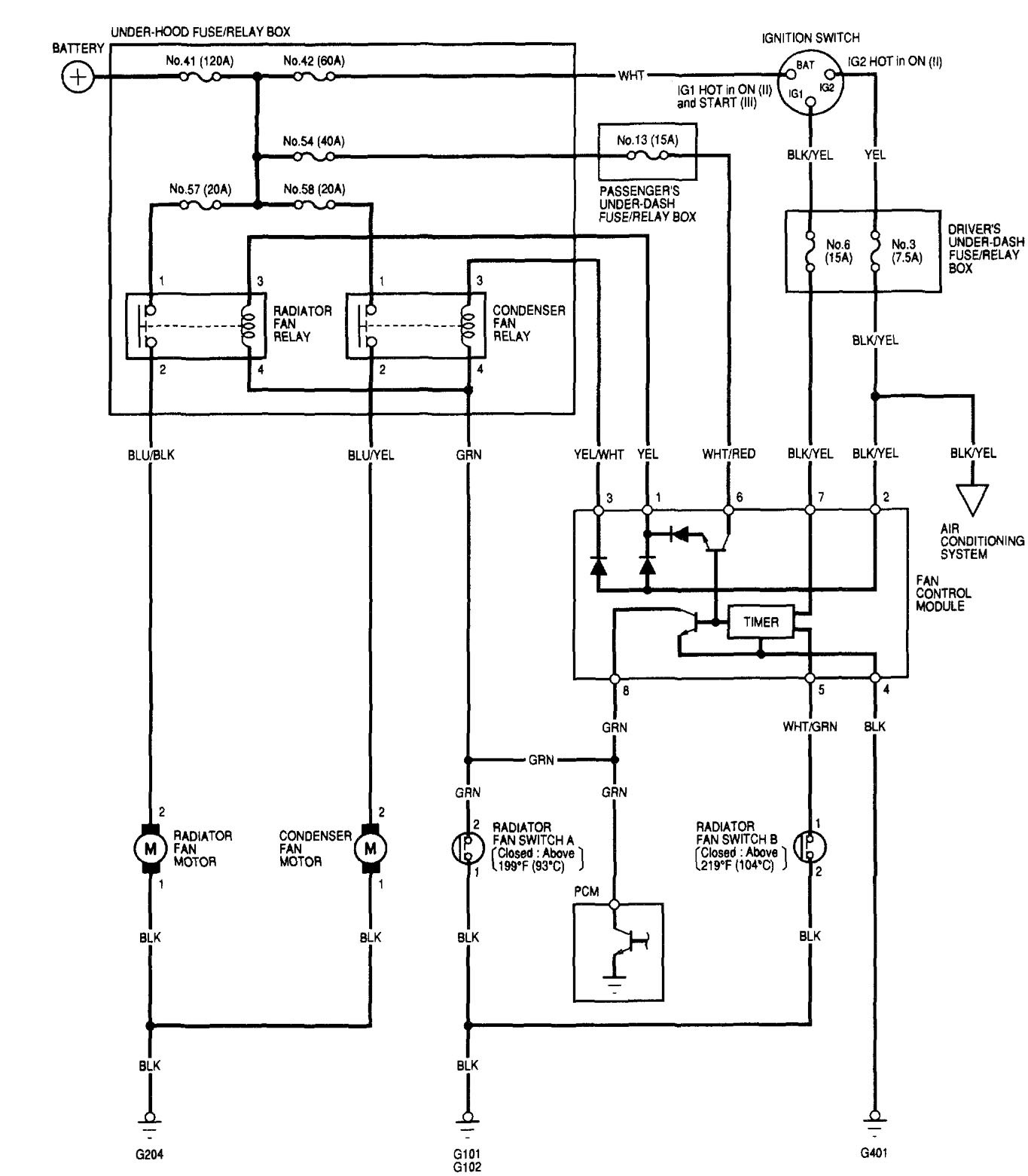 Acura Tl Wiring Diagram Fan Electrical Diagrams 2000 Blower Motor 2002 Cooling Fans Carknowledge Cl Stereo