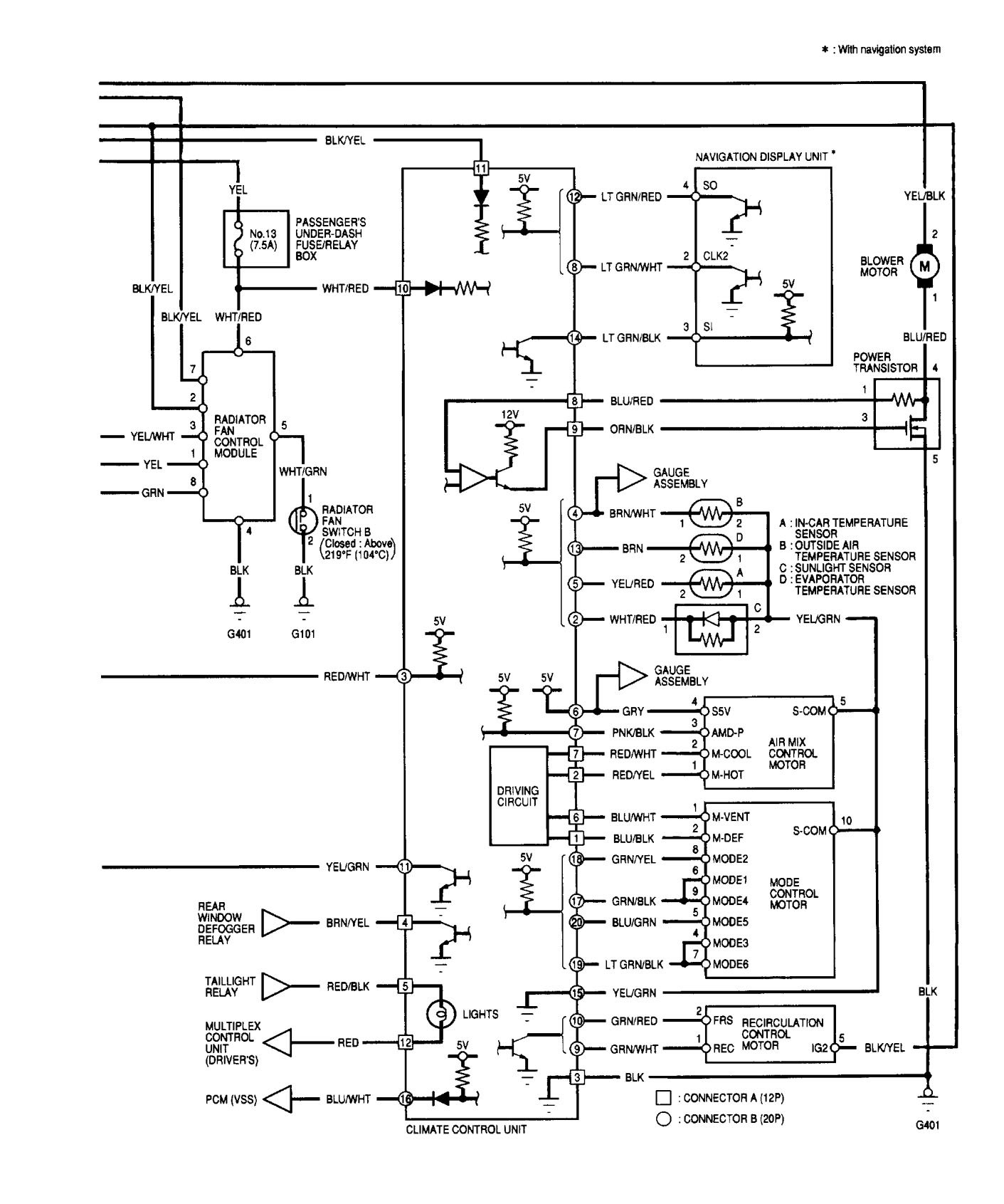 ... Acura TL – wiring diagram – HVAC control (part 2)