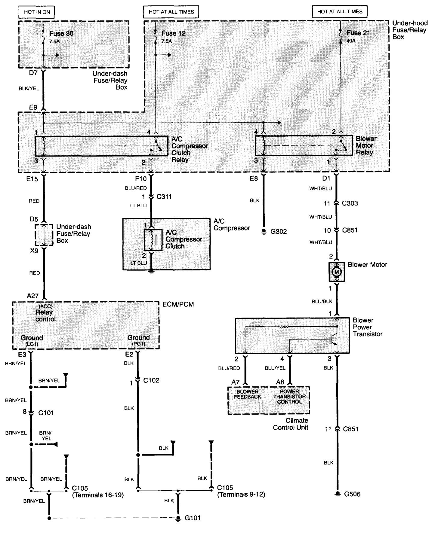 Acura Wiring Schematics Diagrams Hvac Drawing Images Free Download Tl 2003 2005 Controls Simple Schematic Symbols