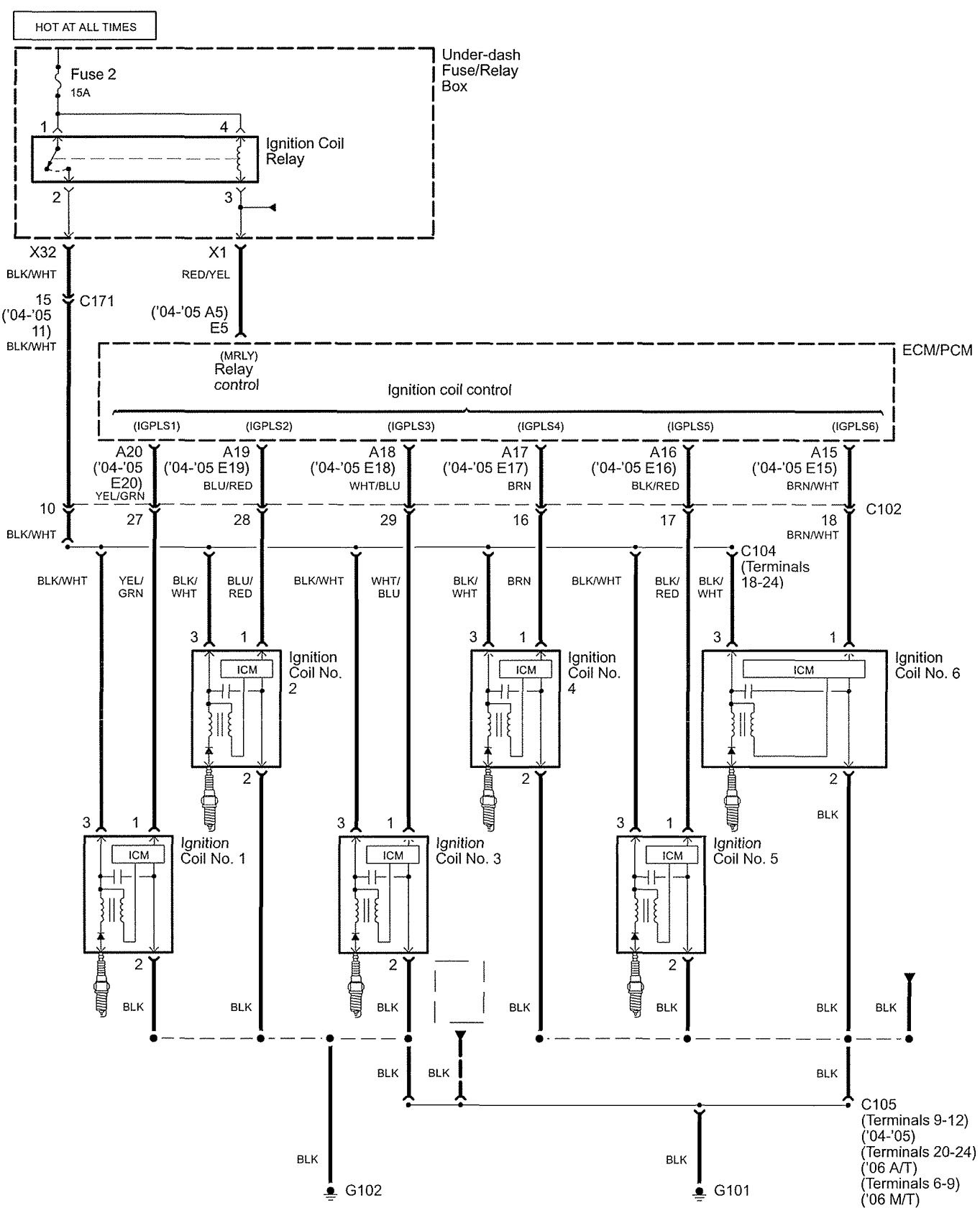 Acura Tl  2005  - Wiring Diagrams - Ignition
