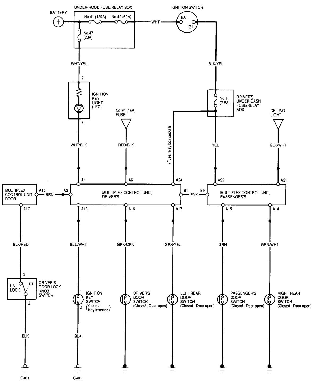 acura tl 2000 2001 wiring diagrams illuminated. Black Bedroom Furniture Sets. Home Design Ideas