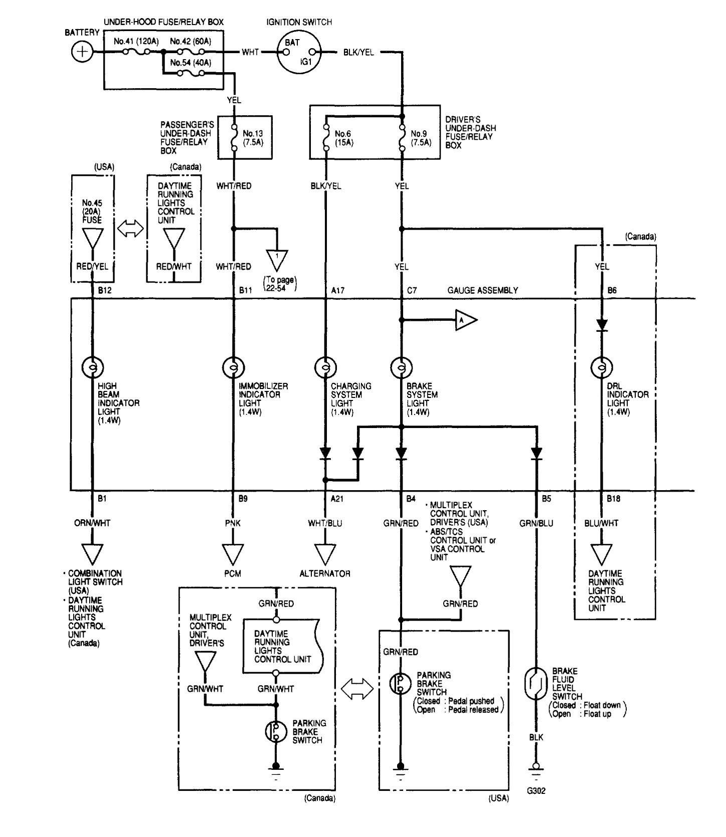 Acura TL (2002) - wiring diagrams - instrumentation - Carknowledge.infoCarknowledge.info