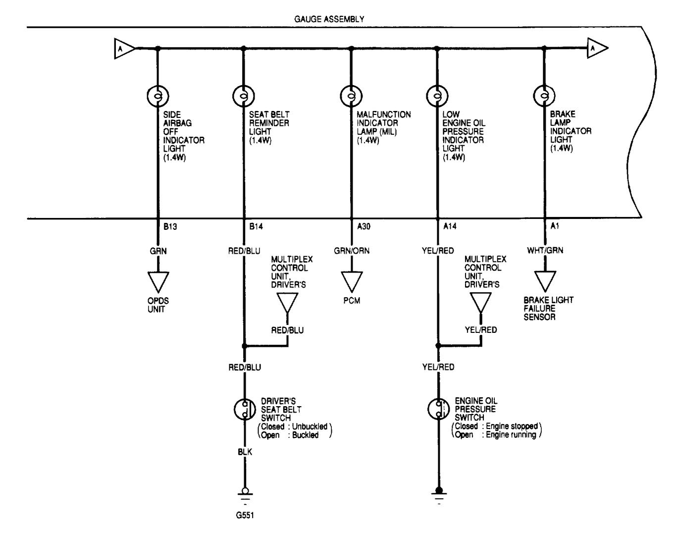 Acura TL (2002) - wiring diagrams - instrumentation - Carknowledge.info   Acura Tail Light Wiring Diagram      Carknowledge.info