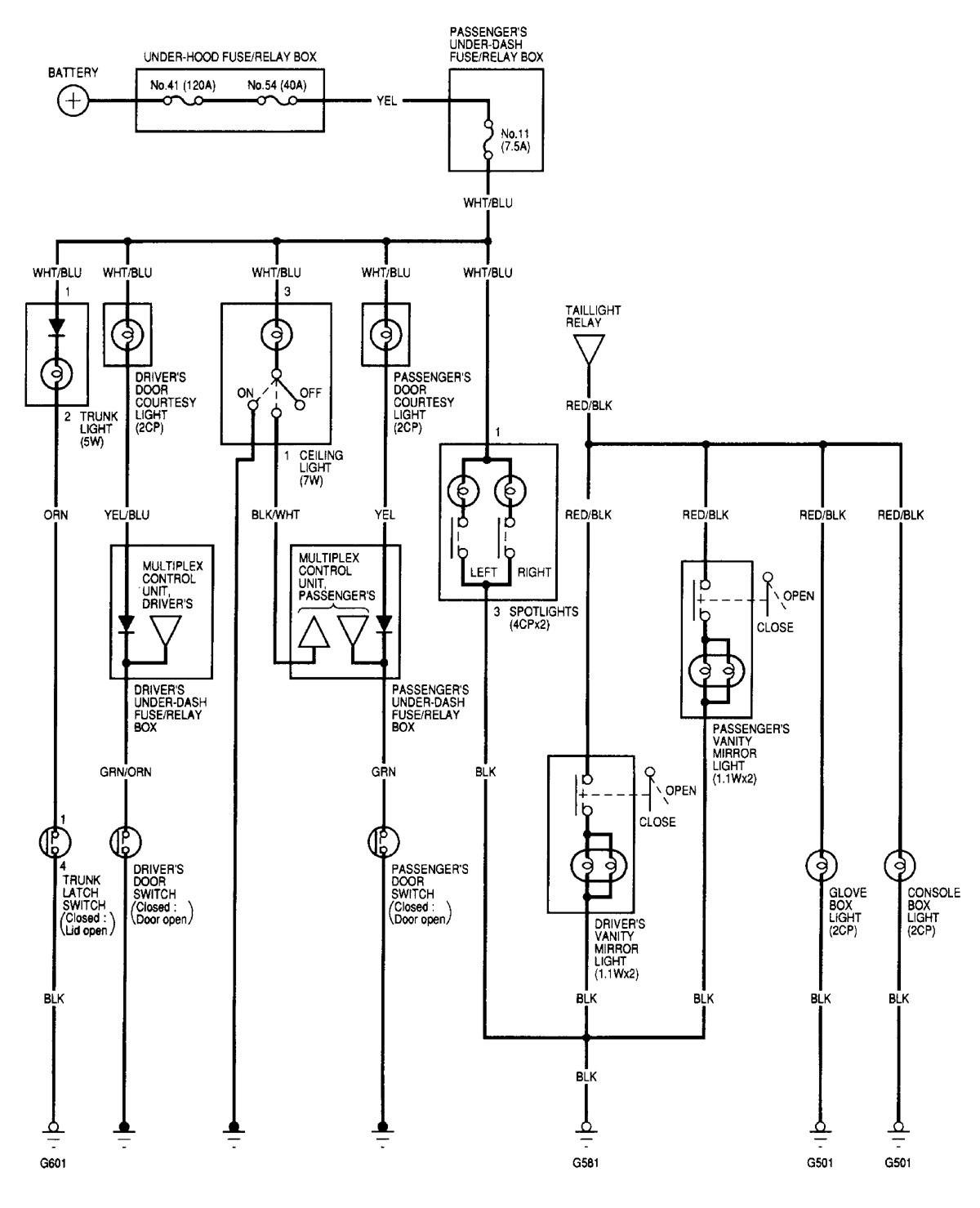 Acura Tl  2000 - 2001  - Wiring Diagrams
