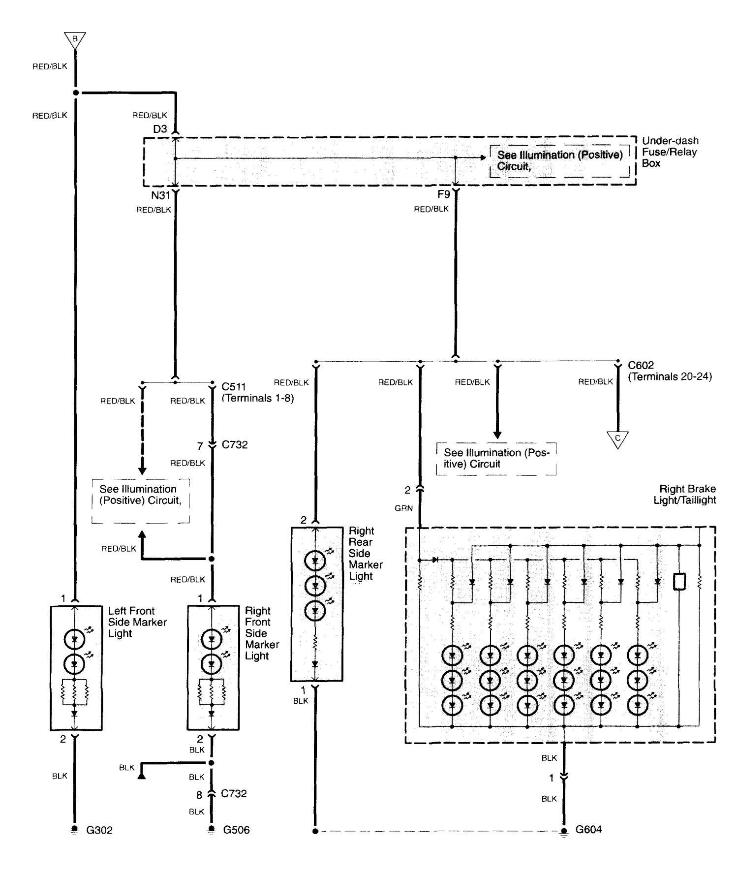 Acura TL (2003 - 2006) - wiring diagrams - license plate lamp ... on 03 lincoln navigator wiring diagram, 03 hyundai tiburon wiring diagram, 03 kia sedona wiring diagram, 03 chrysler 300m wiring diagram, 03 buick century wiring diagram, 03 hyundai santa fe wiring diagram, 03 buick lesabre wiring diagram, 03 saturn ion wiring diagram, 03 mitsubishi eclipse wiring diagram, 03 jeep wrangler wiring diagram, 03 dodge dakota wiring diagram, 03 nissan frontier wiring diagram, 03 mazda 6 wiring diagram, 03 saab 9-3 wiring diagram, 03 pontiac vibe wiring diagram, 03 ford windstar wiring diagram, 03 nissan 350z wiring diagram, 03 kia sorento wiring diagram, 03 buick regal wiring diagram,