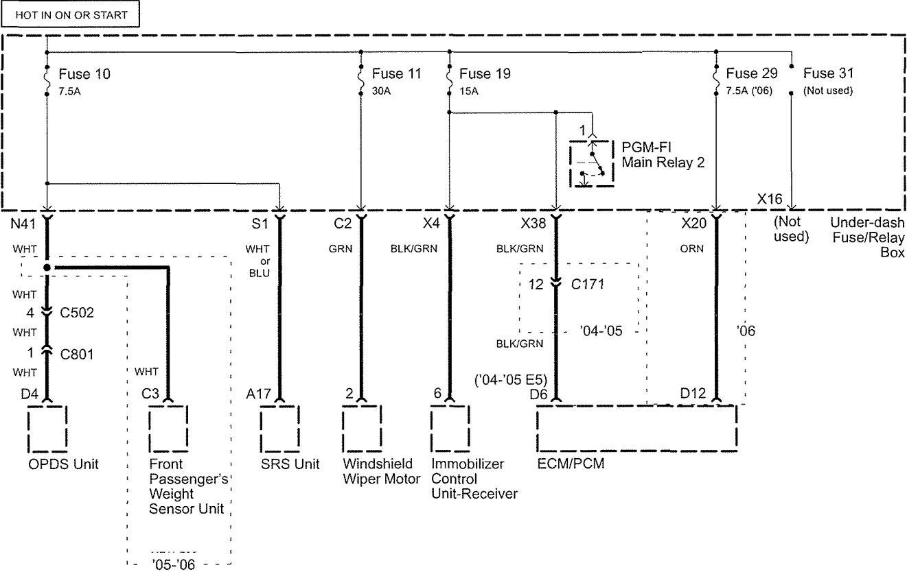acura tl  2005  - wiring diagrams
