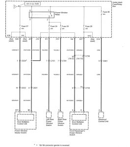 Acura TL - wiring diagram - power distribution (part 6)